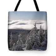 Mountain During Winter Tote Bag