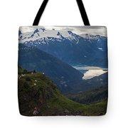 Mountain Flock Tote Bag by Mike Reid