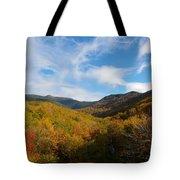 Mountain Foliage And Blue Skies Tote Bag