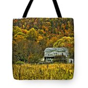 Mountain Home Painted Tote Bag