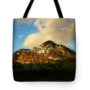 Mountain In The Morning Tote Bag