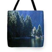 Mountain Lake In Arbersee, Germany Tote Bag by John Doornkamp
