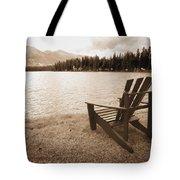 Mountain Lake View Tote Bag