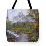 Mountain Landscape Tote Bag