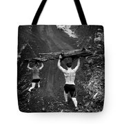 Mountain Lunges Tote Bag