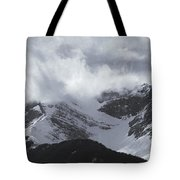 Mountain Panoramic In Winter, Spray Tote Bag