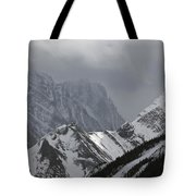 Mountain Peaks In Clouds, Spray Lakes Tote Bag