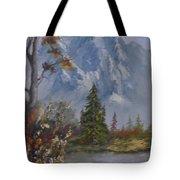 Mountain Scene Tote Bag
