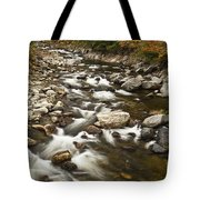 Mountain Stream In Autumn Tote Bag