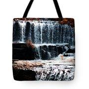 Mountain Stream Waterfall Tote Bag