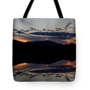Mountain Sunset Reflection Tote Bag