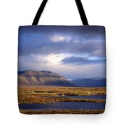 Mountains And Lakes, Dempster Highway Tote Bag
