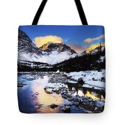 Mountains In The Winter Tote Bag