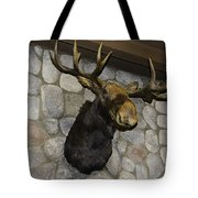 Mounted Moose Tote Bag