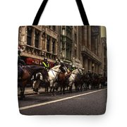 Mounted Police Tote Bag by Rob Hawkins
