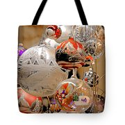 Mouth-blown Hand Painted Christmas Ornaments Tote Bag