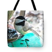 Mouth Full Chickadee Tote Bag