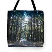Moveonart 50milesanhourthroughtheforest Tote Bag