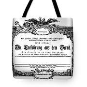 Mozart: Seraglio, 1782 Tote Bag