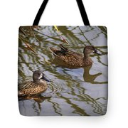 Mr And Mrs Blue Wing Teal Tote Bag
