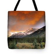 Mt. Amery And Dramatic Clouds, Banff Tote Bag