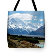 Mt Cook Across Lake Pukaki Tote Bag