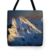 Mt Cook Or Aoraki And Mt Tasman, Aerial Tote Bag