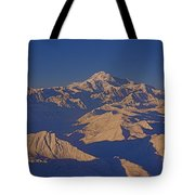Mt. Mckinley Sunset From Above Tote Bag