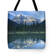 Mt Robson Highest Peak In The Canadian Tote Bag by Tim Fitzharris