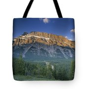 Mt Rundle And The Bow River Tote Bag