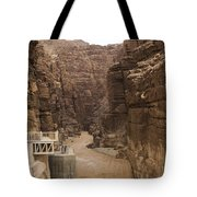 Mud Filled Storm Water Scours Tote Bag