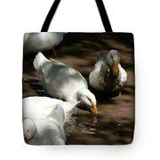 Muddy Ducks Tote Bag