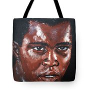 Muhammad Ali Formerly Cassius Clay Tote Bag