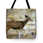 Mule Deer On The Move Tote Bag