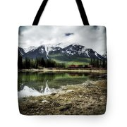 Muleshoe Pond Train Tote Bag