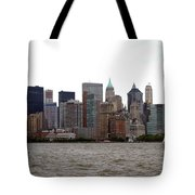 Multi Color Nyc Buildings Tote Bag