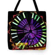 Multi Colored Ferris Wheel Tote Bag