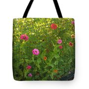 Multi-colored Flowers Tote Bag