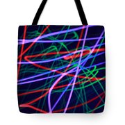 Multi-colored Glowing Light Streaks Tote Bag