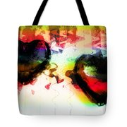 Multi Colored Hearts Tote Bag