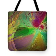 Multi Colored Rainbow Tote Bag by Deborah Benoit