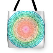 Multicolor Circle Tote Bag