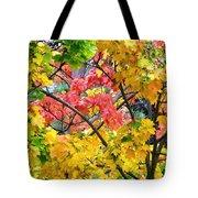Multicolored Maple Tote Bag