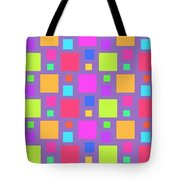 Multicoloured Squares Tote Bag by Louisa Knight