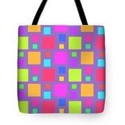 Multicoloured Squares Tote Bag