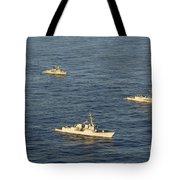 Multinational Navy Ships Move Tote Bag