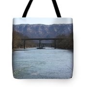 Multiple Bridges Crossing The Holston River Tote Bag