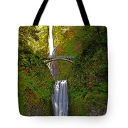 Multnomah Falls At Summer Solstice - Posterized Tote Bag