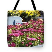 Mums At The Farm Stand Tote Bag