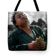 Munching The Pasty Tote Bag